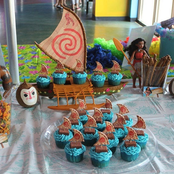 Moana Segel Nur Cupcake Dekorationen Topper Fur Home Made Etsy