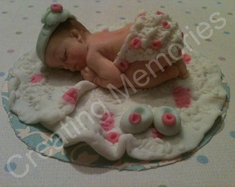 Little Girl with Bloomers Edible Cake Topper /Baby CakeTopper /Cake Decorations/Edible Topper/Baby Shower/first Birthday
