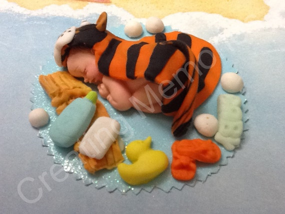 Bath Time Baby Tiger Cake Topperbaby Showerfirst Etsy