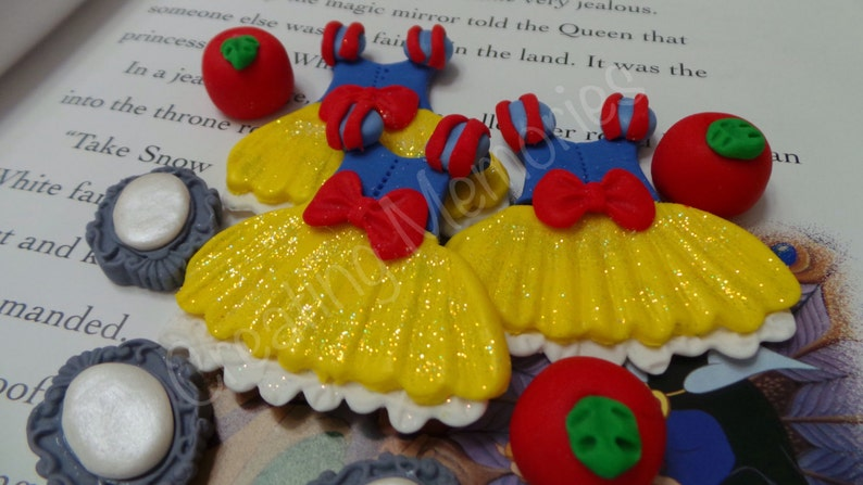 Edible cupcake or cake decorations for your Princess party FONDANT Princess dresses Set Perfect for that special birthday