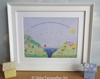 Family Emigration gift moving abroad away PRINT sister mum dad parent brother aunt uncle cousin great gran leaving far away present card bff
