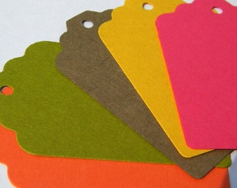 100 paper tags - fall colored tags - gift tags - rustic tags - price tags - favor tags - fall wedding tags - hang tags - blank tags