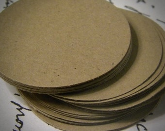 """50 2""""  paper circles - gift tags - wedding favor tags- paper tags - paper garland - cupcake toppers"""