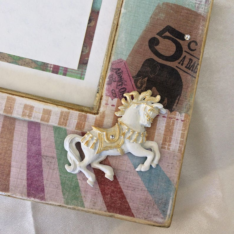 Baby Photo Frame Personalized Pony Circus First Birthday Baby Gift Idea Singer Actress Performer Bling Theater Performing Arts Drama