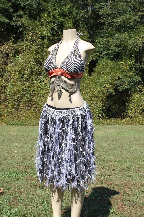 Tribal Coin Fringe BELT Womens Fashion Belly Dance Gypsy Kuchi Festival Bohemian