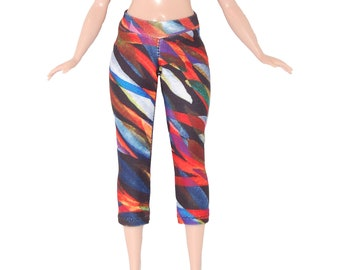 Yoga Pants made for Curvy Barbie Fashionista Doll Clothes TKCT Colorful abstract