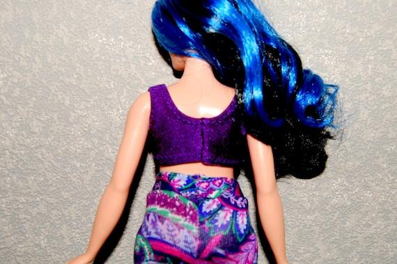 76373d6f283d6 Curvy Barbie Dark Purple sports bra exercise top A4B154