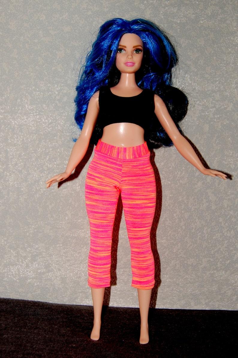 b9521c4e77199 Curvy Barbie Coral exercise yoga pants A4B151 fashionista