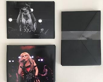 "Custom made ""Women of Heavy Metal"" Live Pro Photography Notecard Set"