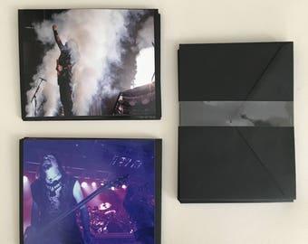Custom made Testament Heavy Metal Live Pro Photography Notecard Set