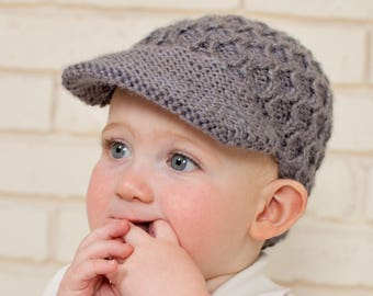 PDF Knitting Pattern Honeycomb Newsboy Newborn Baby to Adult sizes Pattern  022 d2df17599b71