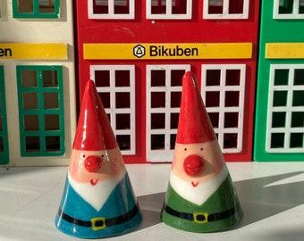 Small Ceramic Garden Gnome Decoration. Porcelain Gnome figure.Quirky gift.Handmade ceramics.Fairy Garden theme.