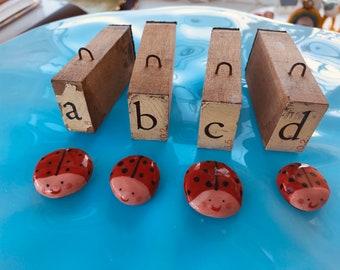 Ceramic ladybird figure.ladybird desktop ornament.Ladybird/ladybug.Handmade Porcelain mini ornament.Miniature ceramic insect.