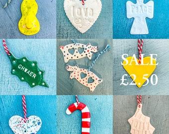 Sale Ceramic Window Decoration/Christmas Tree Decorations.Porcelain Hanging ornament.Porcelain Decorations