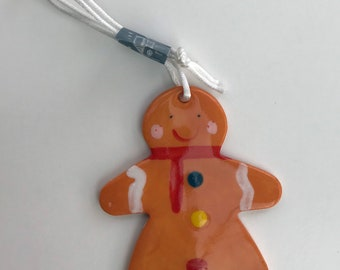 Gingerbread Lady.Hanging Decorations.Christmas tree decorations/ornament.Stocking Filler.Hand painted.Handmade in Wales,Uk