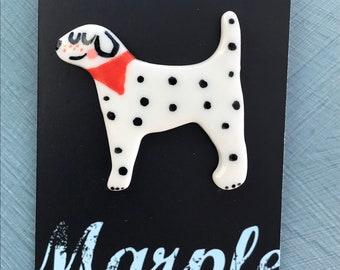 Dalmatian badge.Dog lover gift.Dog brooch/badge.Gift for child.Handmade.Wales,Uk