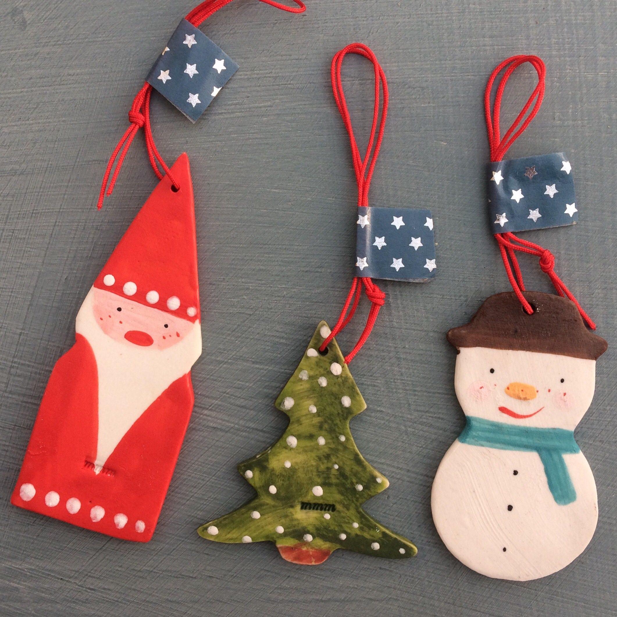christmas tree decoration setsnowmanfather christmas christmas tree hanging porcelain decorationshandmade ceramic christmas decoration - Ceramic Christmas Decorations