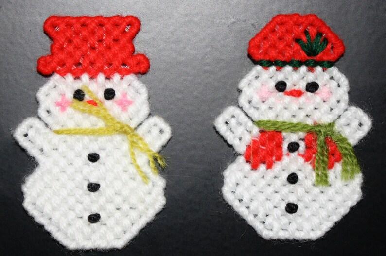2059A Snowman /& Mrs Snowman Magnet Set