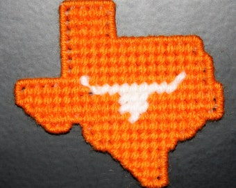 2018 Texas Orange & White Magnet