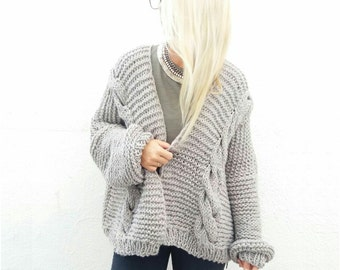 Chunky Cardigan. Choose Your Color.