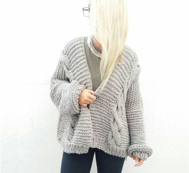 Chunky Cardigan. Choose Your Color. image 0