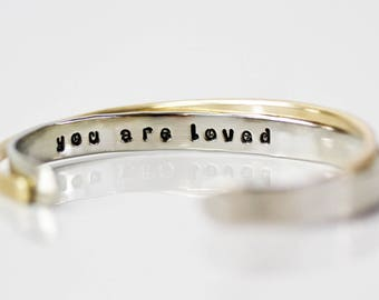 Christmas Gift /Gift for Her /  Inspirational Bracelet / Gift for Her / Bridesmaid / Gift for Wife / Sentimental Jewelry / You Are Loved