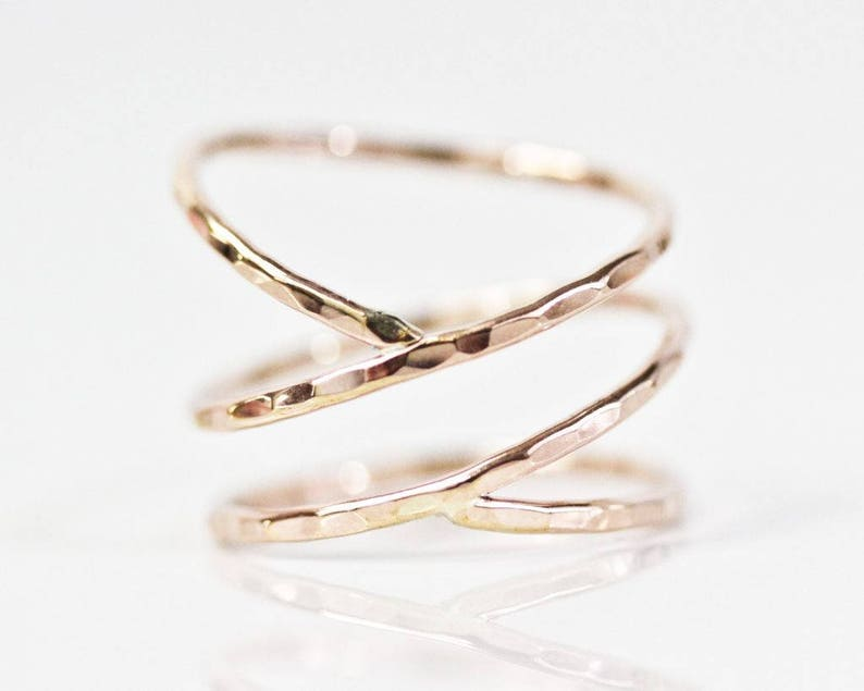 beed0785a0426 Wrap Stacking Ring / Simple Orbit Ring / Delicate Stacking Ring / Unique  Jewelry / Simple Ring / Unique Ring