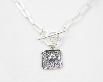 Astral Plane Necklace / Silver Necklace / Handmade / Gifts For Her / Celestial Jewelry / Pendant Necklace / Christmas Gifts For Her