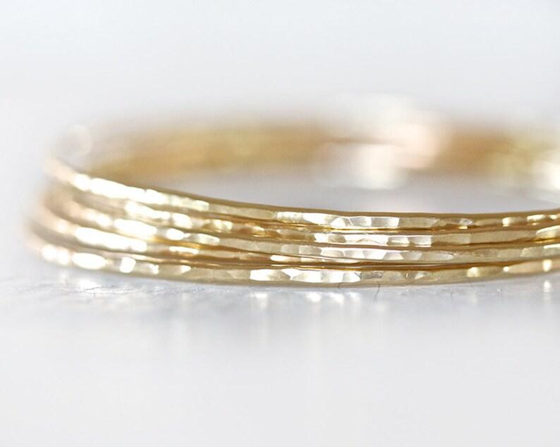 Gold Bangles / Stacking Bangles / Gold Bracelets / Hand image 0