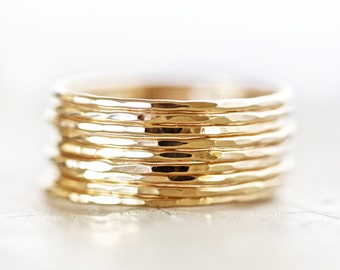 Stacking Rings / Stacking Rings Gold / Super Thin 14k Gold Filled Stackable Ring / Stacking Ring / Stackable Rings Gold/ Thin Stacking Rings
