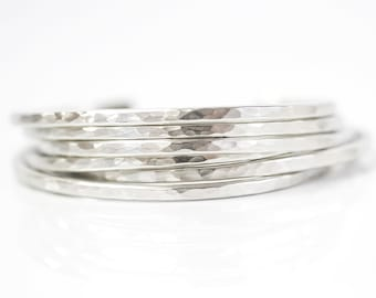 Silver Cuff / Stacking Bracelet / Stackable Bracelets / Cuffs / Gift for Her / Silver Bracelet / Silver Cuffs / Stacking Silver Cuffs