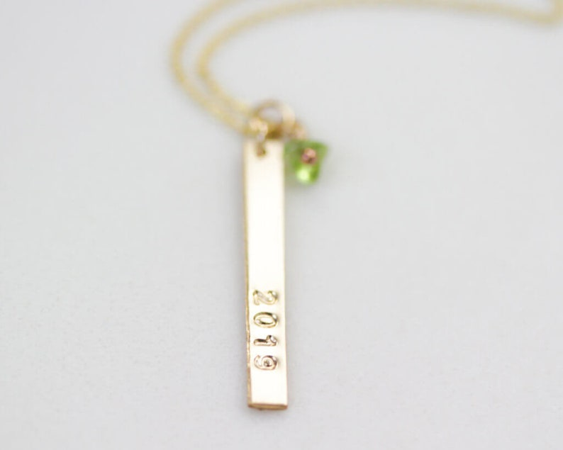 Personalized 2019 Grad Bar Necklace  Graduation Gift  Gift For Her  Gift For Graduate  Commemorative Necklace  Commemorative Gift