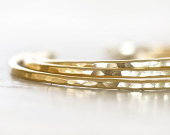 Stacking Gold Cuff / Gift For Her / Stacking Bracelets / Bridal Party Gift / Wedding / Birthday Gift / Unique / Bridal Jewelry / Gift