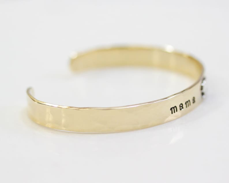 Mama Bear Cuff  Mama Bear Bracelet  Mother/'s Day Gift  Gift For Mom  Mama Bear  Sterling Silver Bracelet  Mom Bracelet  Brass Cuff