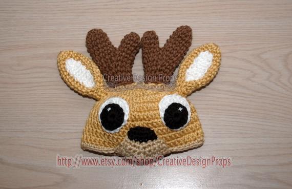 Häkeln Sie Baby Reh Bambi Mütze Für Neugeborene Foto Prop Etsy