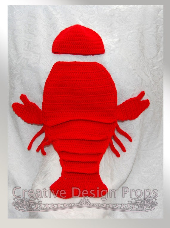 crochet crayfish lobster outfit for newborn baby crawfish etsy