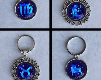 Astrology, 24 Designs, Keychains, 2 Styles