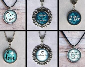 Something Blue, 65 Artwork Options, Pendant Necklaces