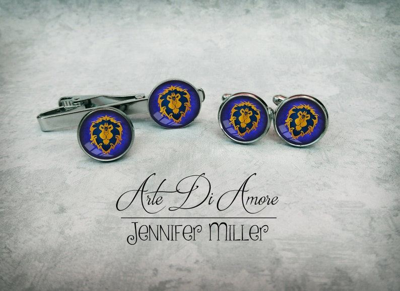 Alliance Jewelry Set Cuff links Lapel Pin Tie Clip image 0
