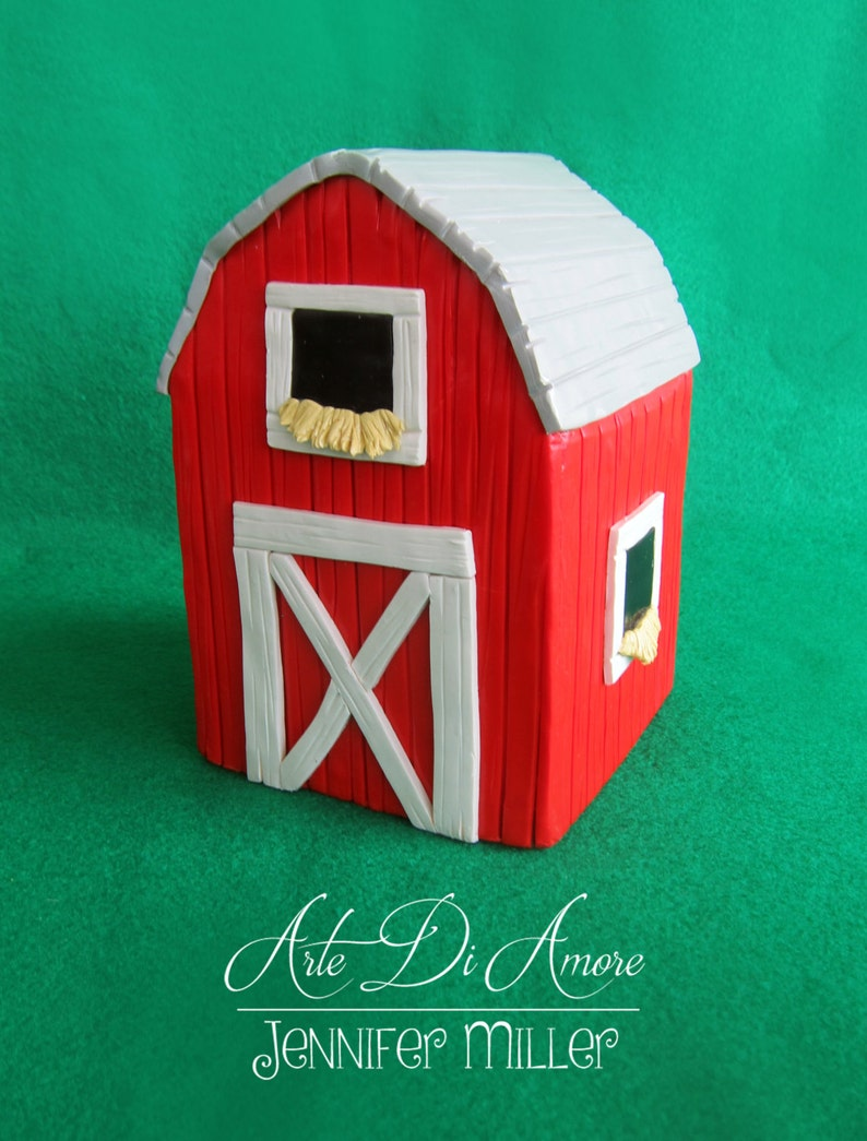 Barn Figurine Cake Topper image 0