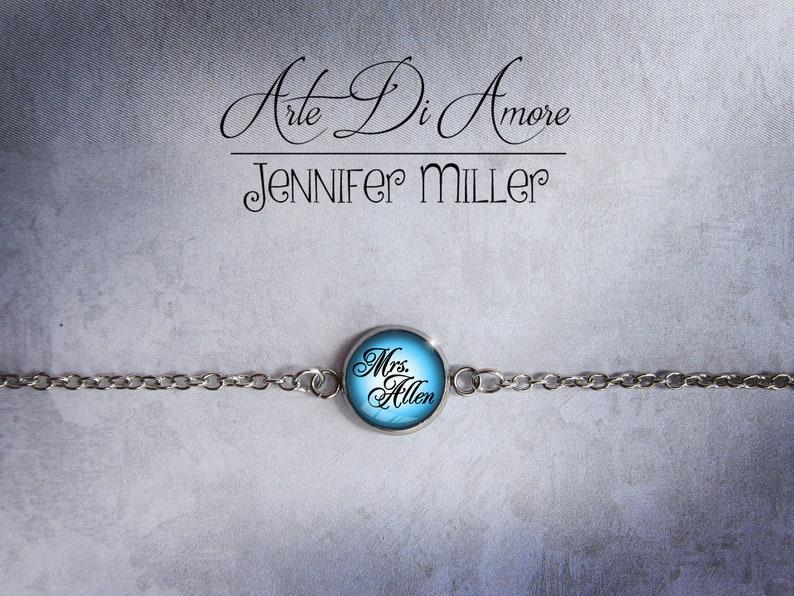 Something Blue Personalized Wedding Anklet or Bracelet image 0