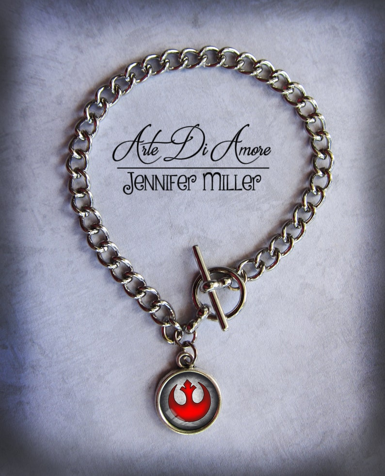 Rebel Alliance Star Wars Charm Bracelet image 0