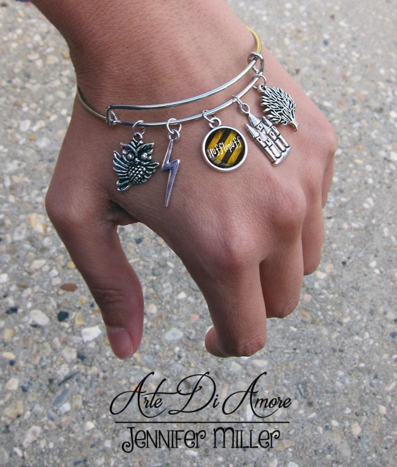 Hufflepuff Inspired Charm Bracelet image 0