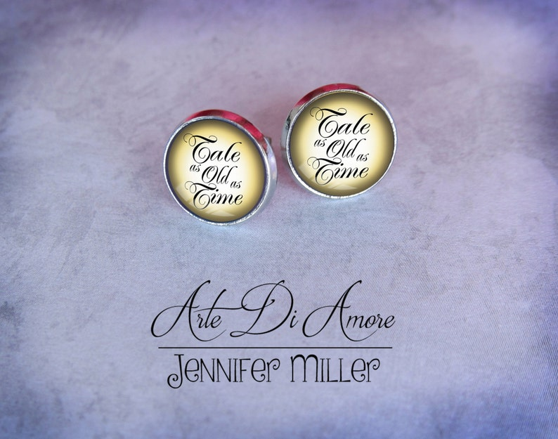 Tale as Old as Time Stainless Steel Stud or Dangle Earrings or image 0