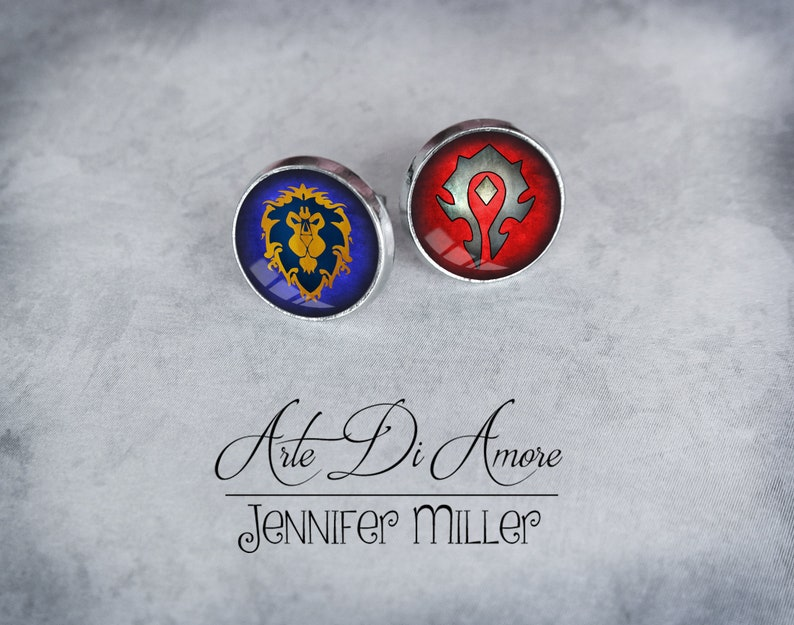 Horde and/or Alliance Stainless Steel Stud or Dangle Earrings image 0
