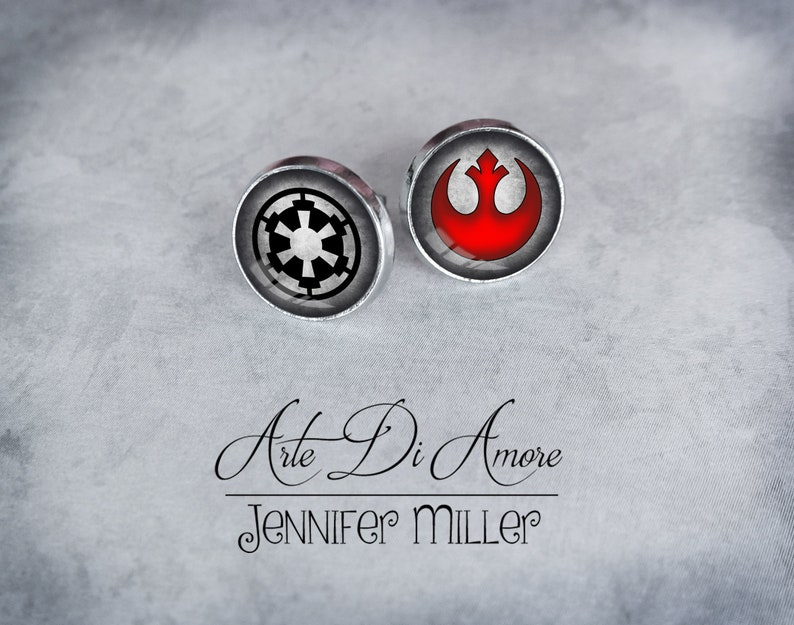 Rebel and/or Imperial Star Wars Stainless Steel Stud or Dangle image 0