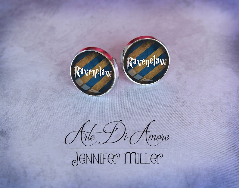 Ravenclaw Inspired Stainless Steel Stud or Dangle Earrings or image 0
