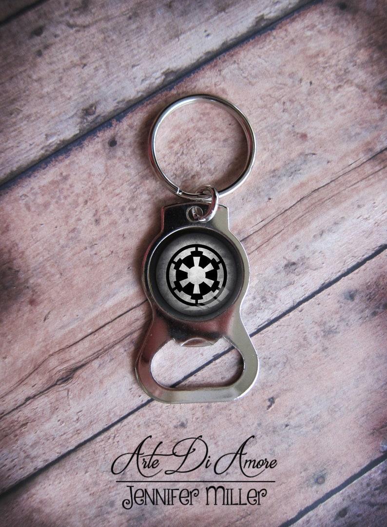 Imperial Crest Star Wars Bottle Opener Keychain image 0