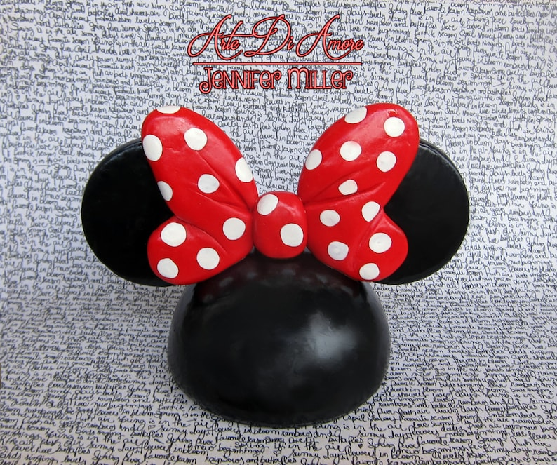 Ear Hat with Bow Figurine Cake Topper image 0