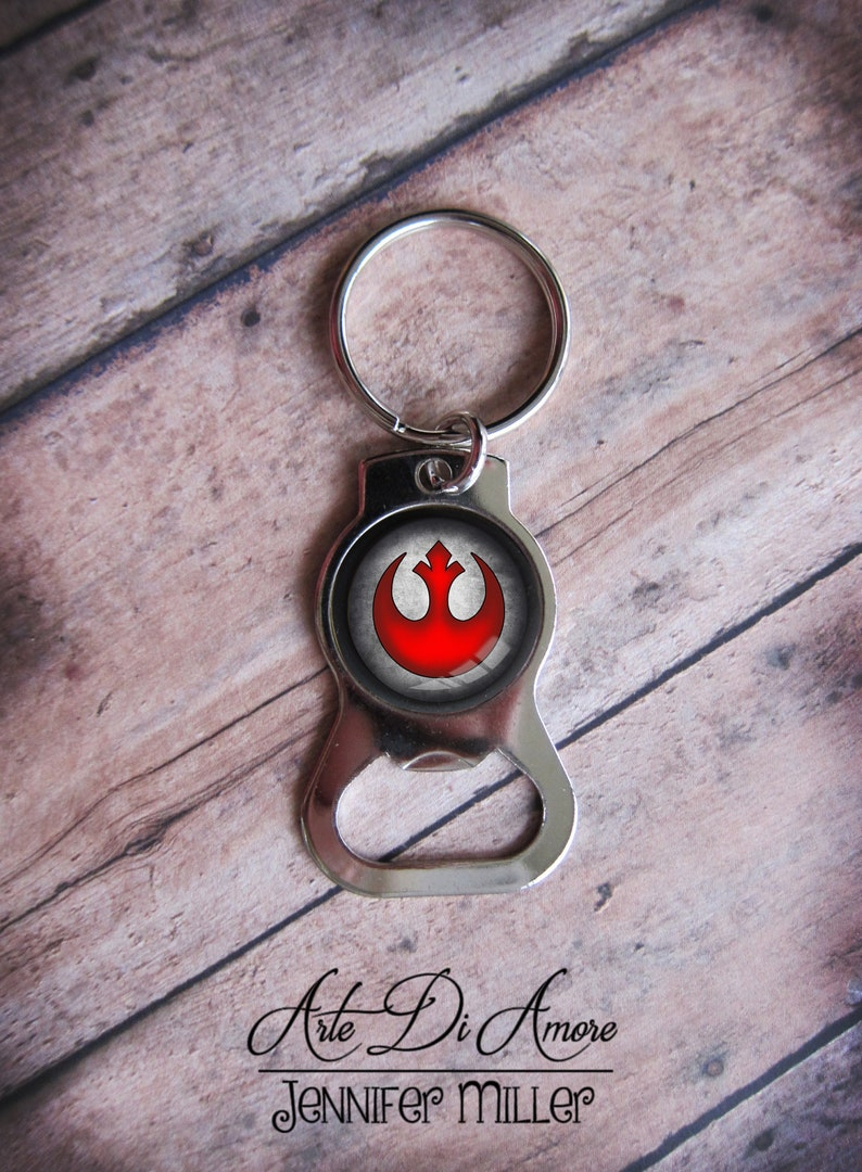 Rebel Alliance Star Wars Bottle Opener Keychain image 0
